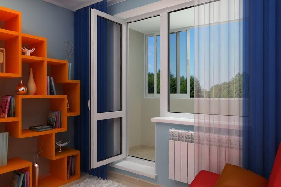 Балконные пластиковые двери заказать в MildenOKNA